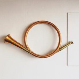 郵便ラッパ、ポストホルン、金管楽器、ヴィンテージ、インテリア