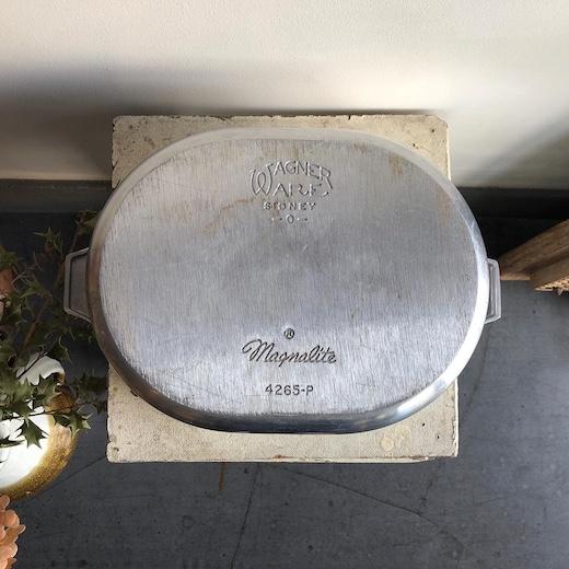 ワグナーウェア、ヴィンテージ、ロースター、ダッチオーブン、アルミニウム鍋、アウトドア、キャンプ、アメリカンヴィンテージ、wagnerware