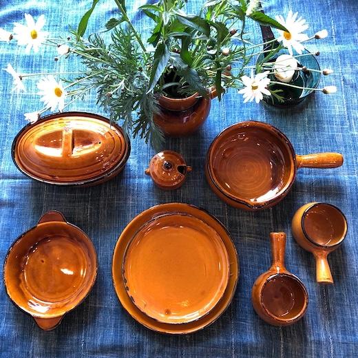 スフレンハイム焼き、ベッコフ鍋、テリーヌ型、グラタン皿、フランス陶器、アルザス、ヴィンテージ陶器