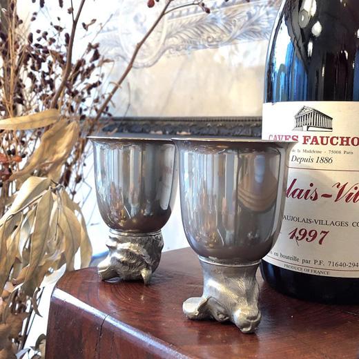 酒器、ヴィンテージ、ヨーロ−ッパ、stirrupcup、馬上杯、ワインカップ
