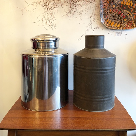 ヴィンテージ雑貨、茶缶、茶筒、ティーキャニスター、保存容器、紅茶、緑茶