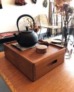 ヴィンテージ家具、引き出し、書類ケース、収納家具、チーク家具、北欧モダン
