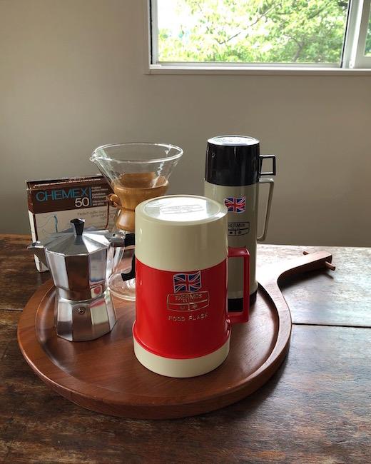 ヴィンテージ雑貨、サーモス魔法瓶、コーヒーポット、フードじゃー、保温弁当箱、コーヒーメーカー、ケメックス、レトロ雑貨