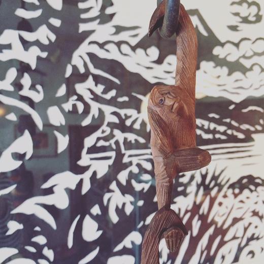 古い三猿、猿手、木彫、ハンドクラフト