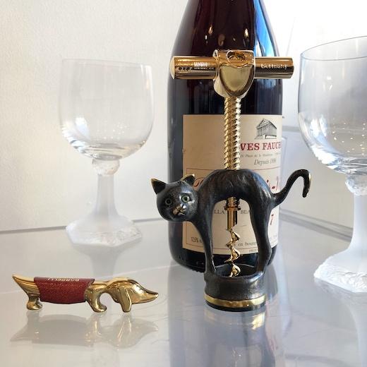 ヴィンテージ雑貨、ワイングッズ、コルクスクリュー、ボトルオープナー、犬猫デザイン、動物デザイン、モダン、ヨーロッパ