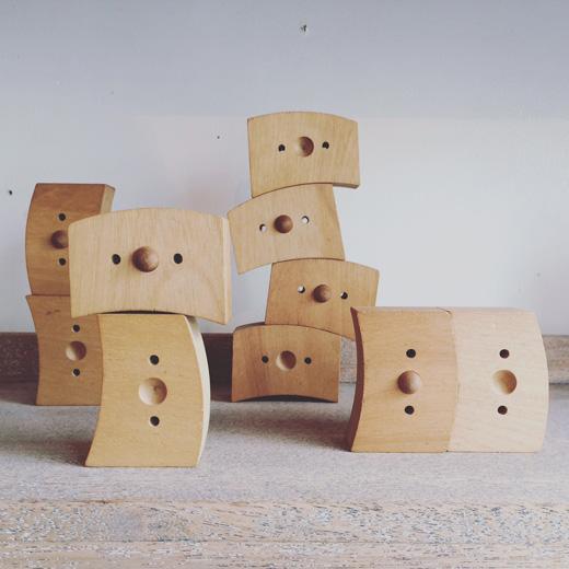 ヴィンテージ知育玩具、積み木
