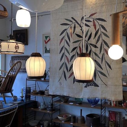 ヴィンテージ照明、ヤマギワ、ペンダントランプ、和モダン