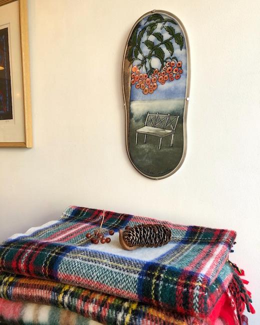 アラビア、陶板、ヘルヤリウッコスンドストロム、1993、talvitulee、北欧ヴィンテージ雑貨