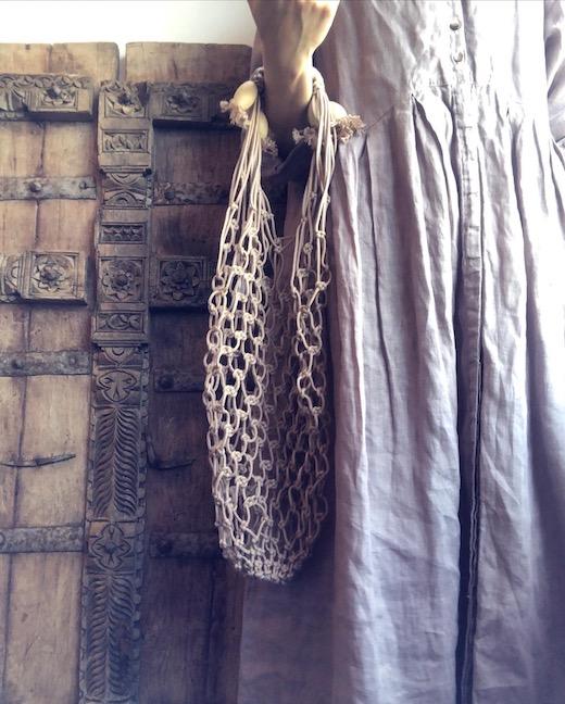 ヴィンテージバッグ、カゴバッグ、編みバッグ、ストローハット、夏バッグ、巾着