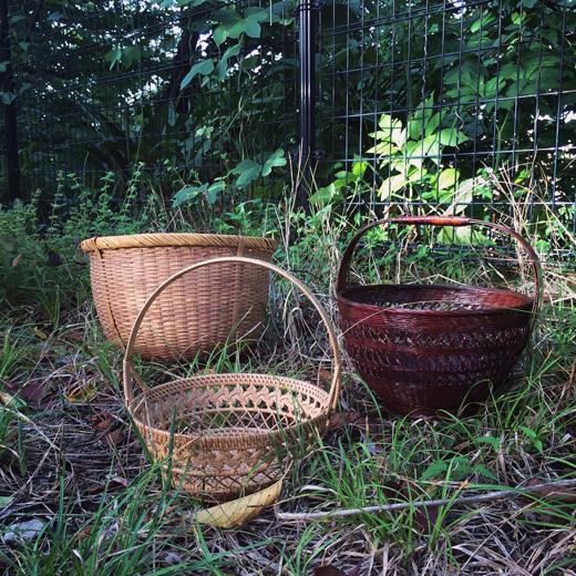 ヴィンテージ、竹かご、ヴィンテージバスケット、モダンクラフト、竹工芸