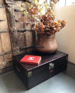 衣装ケース、古道具、収納ケース、ボックス、行李、あじろ塗り