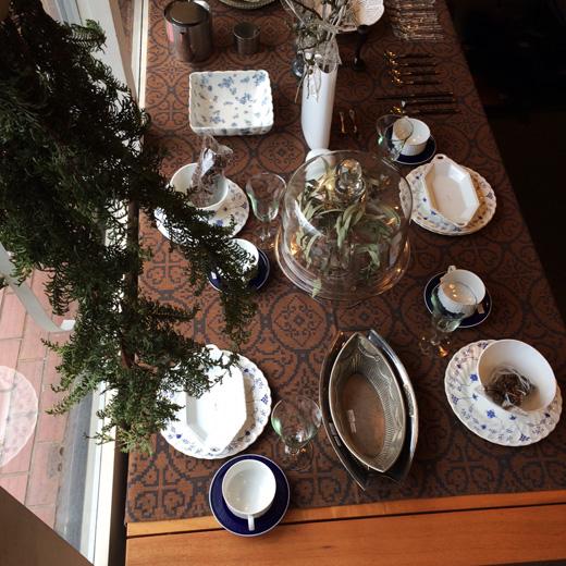ヴィンテージクリスマス、クリスマステーブルコーディネート、ヴィンテージ食器、北欧ヴィンテージ