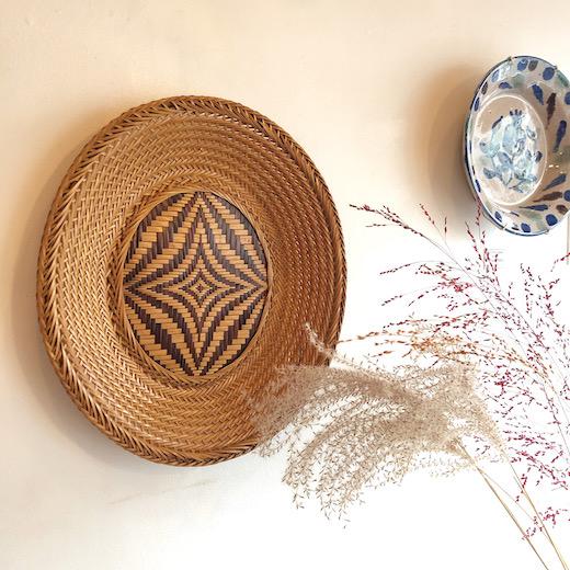 ヴィンテージ、竹工芸、竹かご、竹皿、盛り皿、ジャパニーズモダン