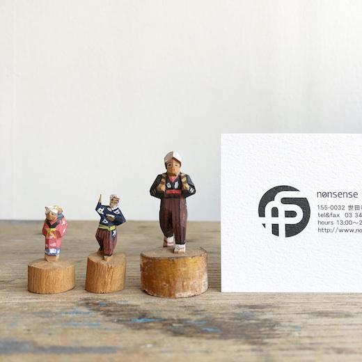 郷土玩具、農民美術、木彫り人形、まめこけし、ミニチュア、民芸、戦前