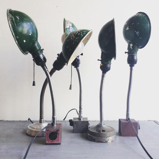 インダストリアルライト、ヴィンテージデスクランプ、フレキシブルライト、ヴィンテージ照明