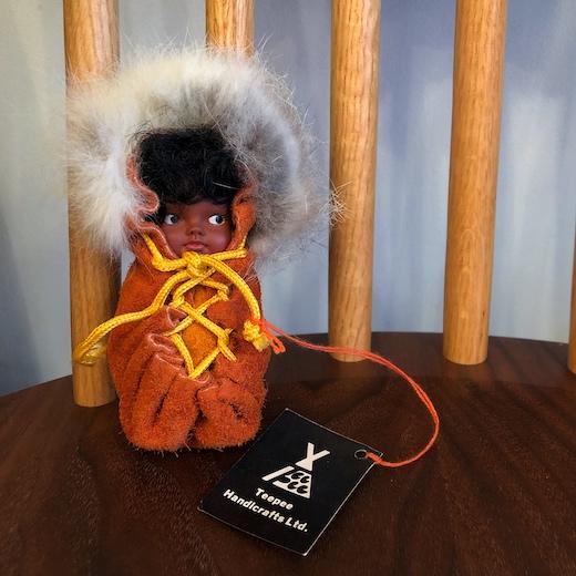 エスキモー人形、カナダ土産、ヴィンテージ人形、赤ちゃん人形、ハンドクラフト