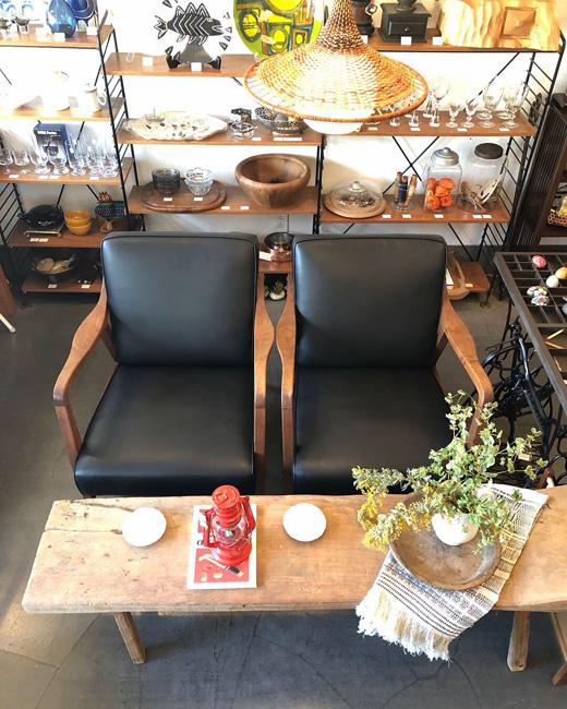 ヴィンテージ家具、イージーチェア、1人掛けソファ、シングルソファ、チーク家具、モダン、リゾート