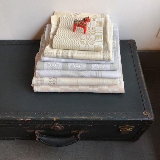 北欧ファブリック、ヴィンテージファブリック、リネン、織物、スウェーデン、テーブルクロス
