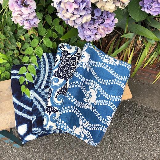 藍染め、型染、絞り、古布、ヴィンテージファブリック、和モダン