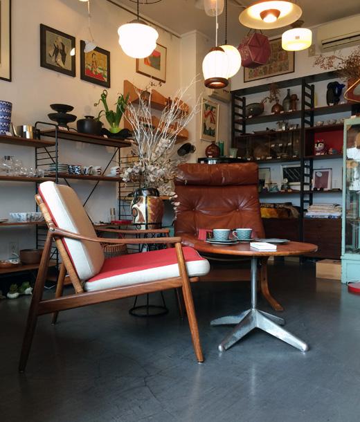 北欧ヴィンテージ家具、シエスタ、ハイバック、イージーチェア、ラウンジスタイル、北欧モダン