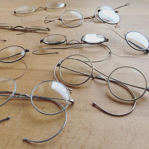 ヴィンテージメガネ、丸メガネ、東京蚤の市、ヴィンテージファッション