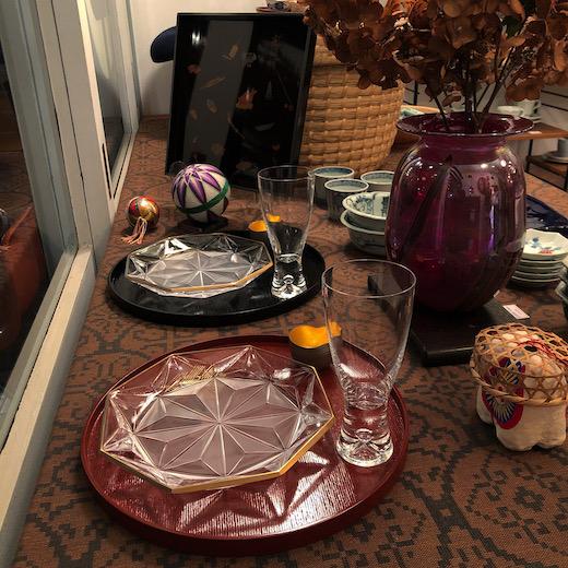 お正月のしつらえ、ハレの日の器、和食器、漆器、お正月ディスプレイ、ナンセンス下北沢