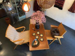 ヴィンテージ家具、秋田木工、ニコクラリ、フィンオスタゴー、北欧、コーヒーテーブル、チェア、オットマン、モダン家具
