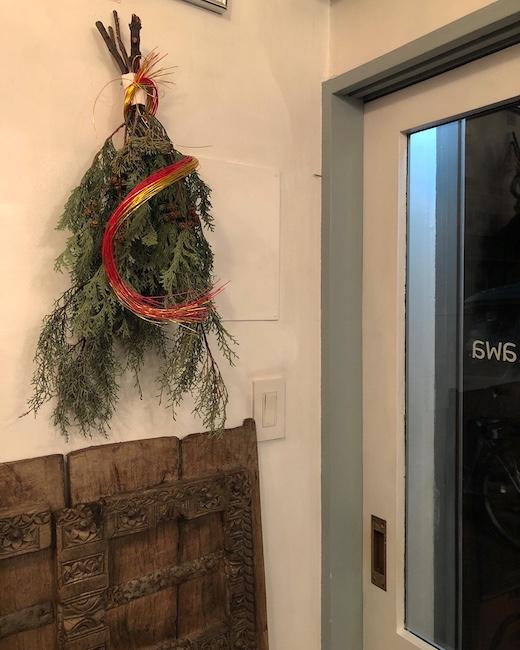 お正月のしつらえ、お正月飾り、ナンセンス下北沢、ヴィンテージインテリア