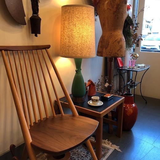 ヴィンテージ照明、テーブルランプ、シビルチェア、柏木工