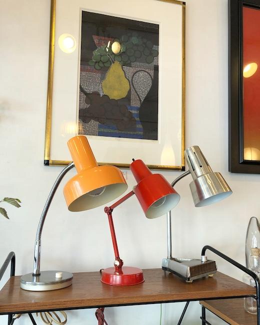 ヴィンテージ照明、デスクライト、デスクランプ、テーブルランプ、レトロモダン