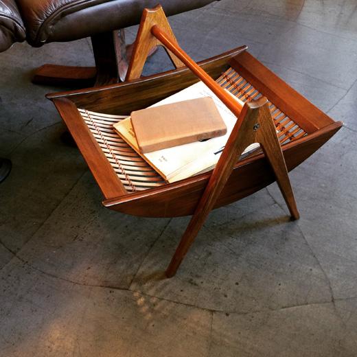 ヴィンテージ家具、マルニ、マガジンラック、モダンデザイン、マルニ木工製