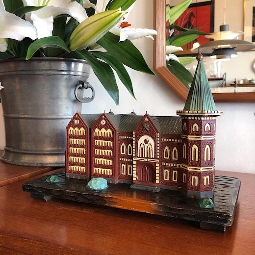 ヴィンテージオルゴール、建物コレクション、ミニチュア、慶應義塾図書館旧館、重要無形文化財