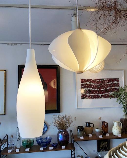 ヴィンテージ照明、モダン、ミッドセンチュリー、北欧、乳白ガラス、ペンダントライト