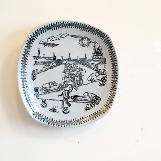 北欧ヴィンテージの絵皿、フィッジョ、ウォールプレートvintageplate.norway.figgio