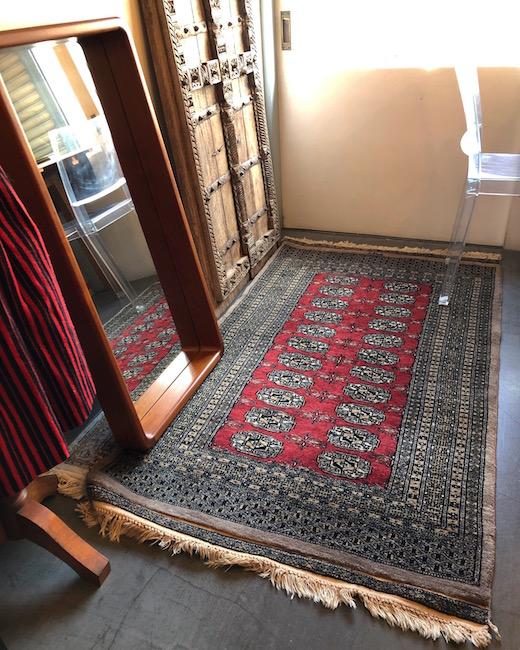 ヴィンテージラグ、パキスタンラグ、ウール、絨毯、プリミティブモダン