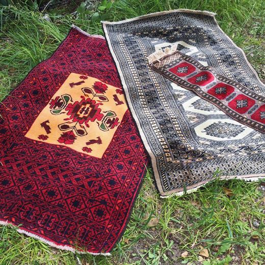 ヴィンテージ、パキスタン、ラグ、ウールラグ、絨毯、
