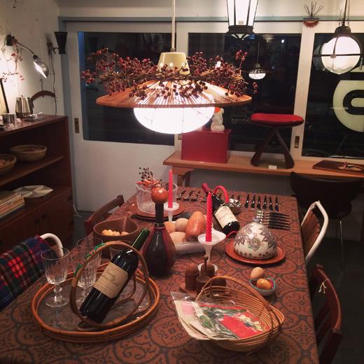 北欧ヴィンテージ、クリスマスコーディネート、ヴィンテージ雑貨