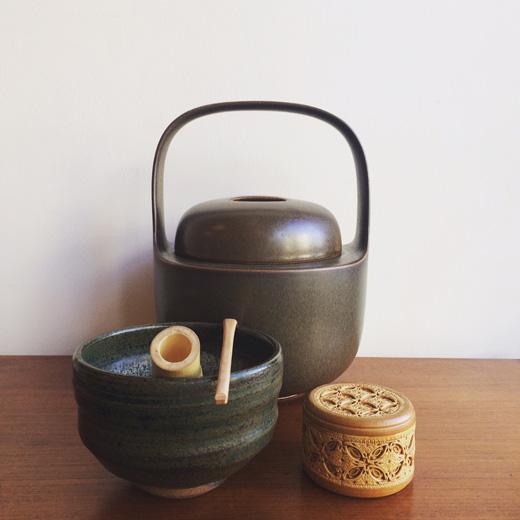 茶道具、見立て、水差、棗、北欧陶器、ベレスタ