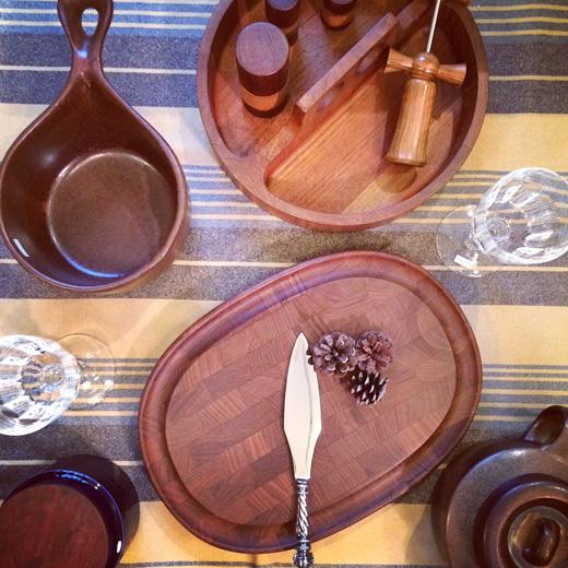 チークのテーブル&キッチンウェア