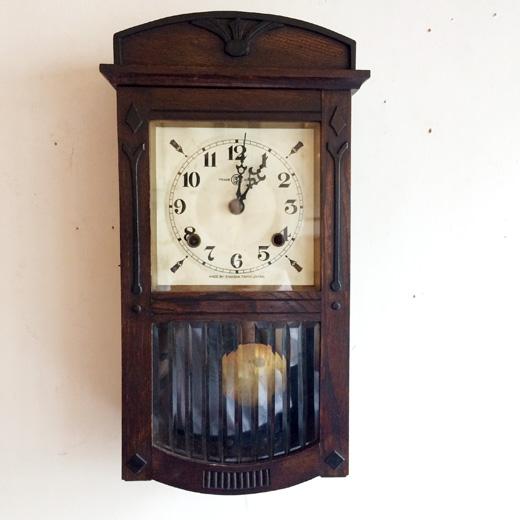 アンティーク時計、振り子時計、英工舎、鶴巻時計店、アールデコ、モダン、昭和レトロ
