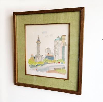 須賀卵夫、水彩画、ニューヨーク