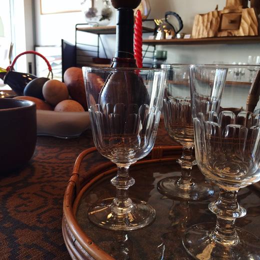 ワイングラス、北欧ヴィンテージ、ホルムガード、北欧インテリア、パーティーしつらえ、モダンインテリア、christiand8