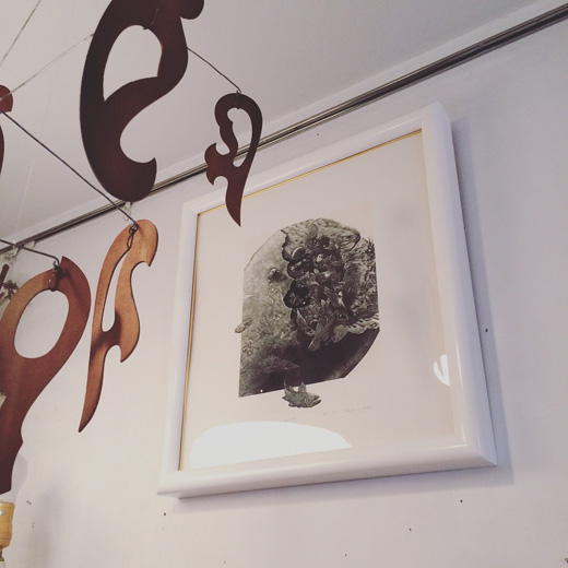 小林敬生、木口木版画、漂泊、額裝、1980年代、モダンアート