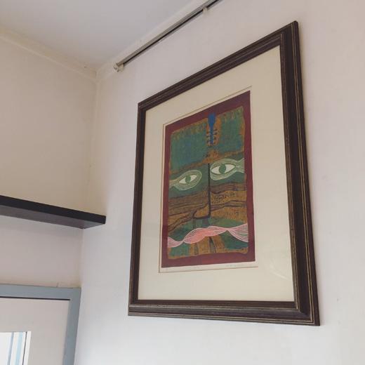 木版画、祭司、作家もの、額裝、モダンアート、抽象画、1970年