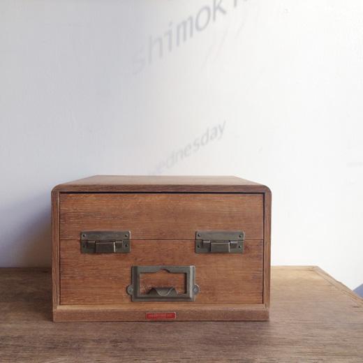 ヴィンテージ、名刺ケース、名刺整理、整理整頓、名刺ホルダー、木製、1960年代
