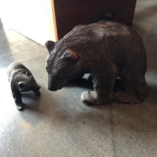 北海道、木彫りの熊、木彫り熊、民芸品、ヴィンテージ