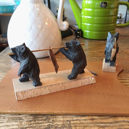 北海道、民芸品、木彫り熊、クラフト、ヴィンテージ