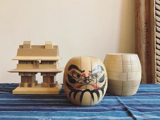 山中組木、組木パズル、モダンクラフト、柳宗理、羅生門