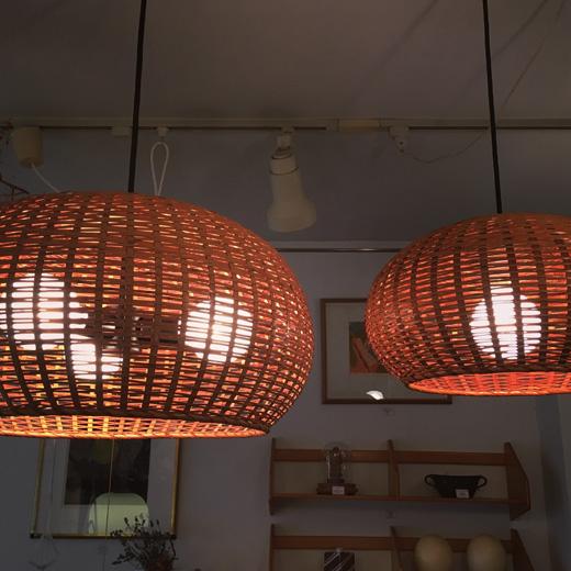 ヤマギワ、ヴィンテージ照明、竹のあかり、モダンデザイン、ジャパニーズモダン、近藤昭作