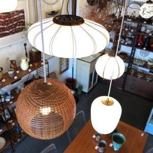 ヤマギワ、ヴィンテージ照明、和モダン、竹照明、竹編み、ペンダントランプ